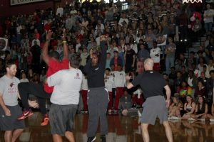 Hawks Basketball Hoop Coming Pep Rally