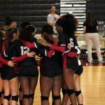 Varsity Volleyball Lady Hawks take Cambridge in tie breaker match