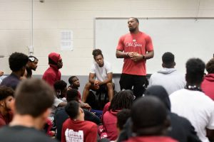 More photos from Bradley Chubb's visit