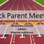 2020 Track Parent Meeting