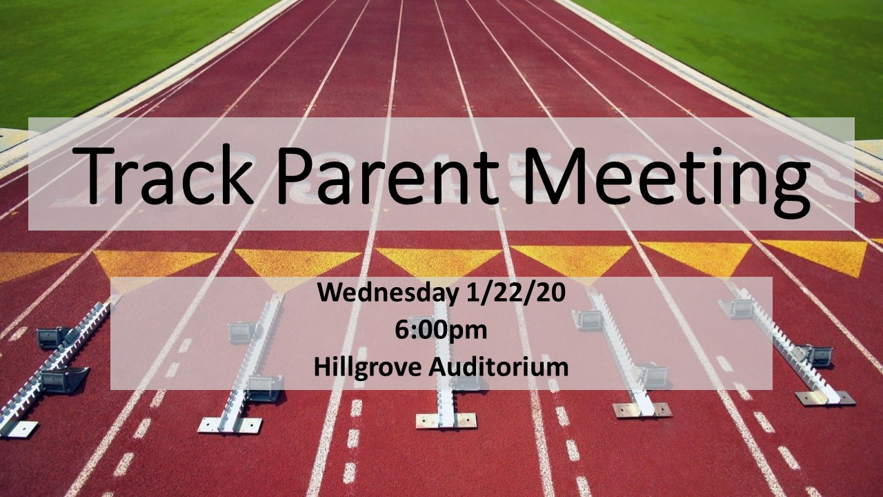 2020 Track Parent Meeting