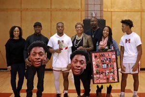 Senior Night on the Basketball Courts 2020