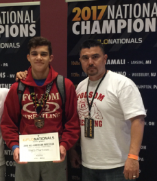 Folsom Wrestler, Angelo Martinoni is now a Two-time All-American and National Finalist