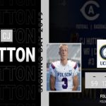 2019-20 Folsom's CJ Hutton Signs With UC Davis for Football and Baseball