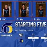 Folsom Varsity Boys Basketball Starting 5 at Oak Ridge 1/24/20 7:00pm