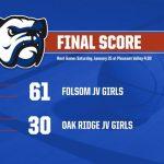 Folsom JV Girls Basketball 1-24-20