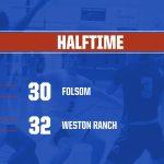 2019-20 Folsom Boys BB vs Weston Ranch-Halftime