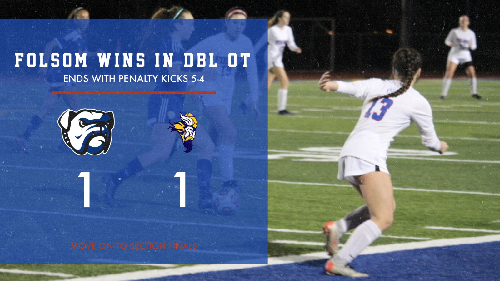 2019-20 Folsom Girls Soccer Wins SJS Semifinals and Advances to Section Championships