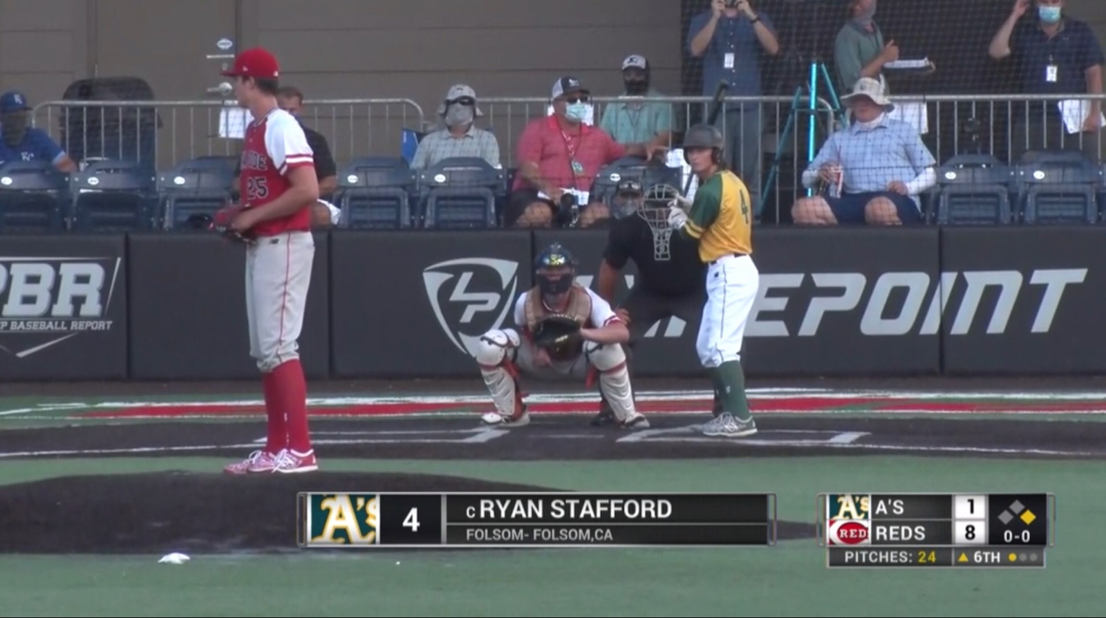Folsom H.S. Baseball Athlete, Ryan Stafford, Playing Area Code Baseball