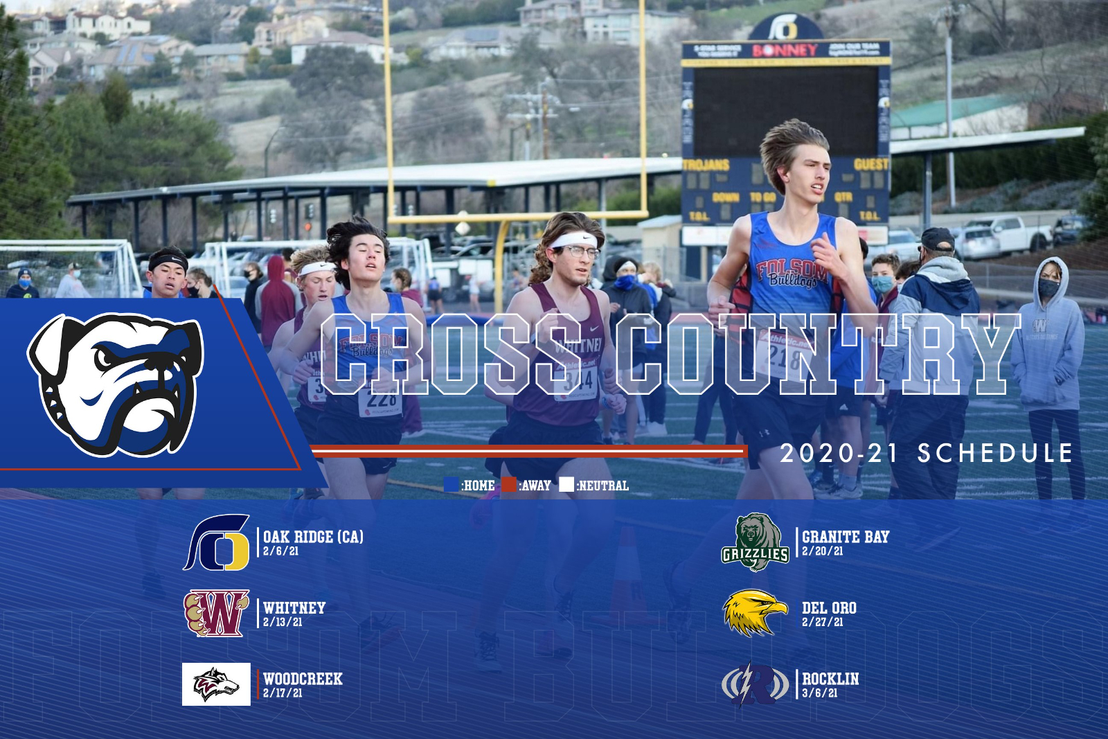 2020-21 Folsom HS Cross Country Competes Twice This Week and Secures the Top 3 Spots again