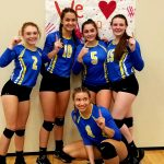Volleyball Wins Big on Senior Night