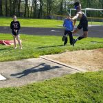 Track Teams Fare Well at PTC Prelims; Jimmie Painter Sets New School Record in Long Jump