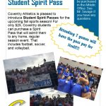 Coventry Athletics to Offer Student Spirit Passes for Upcoming Fall Season
