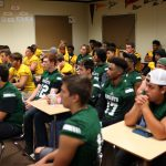 Football Team Participates in NFL Play Football High School Day
