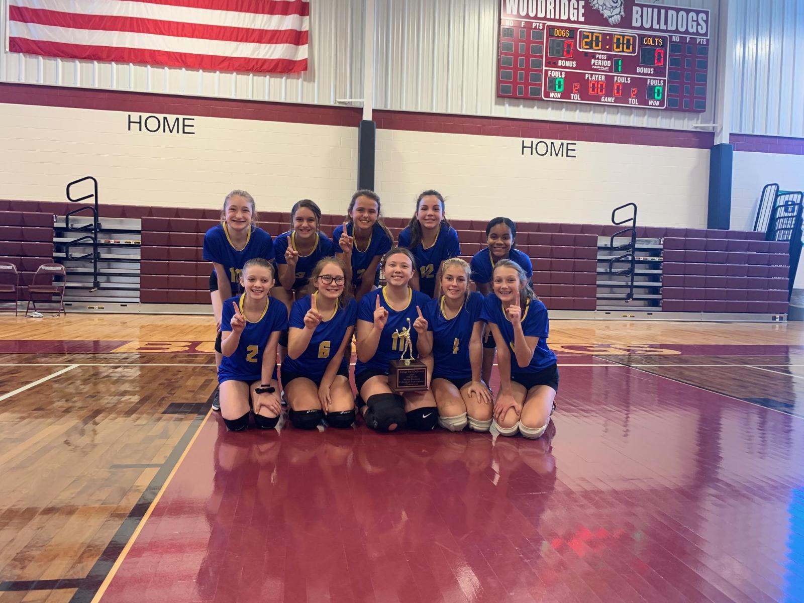 7th Grade Volleyball Wins PTC Championship