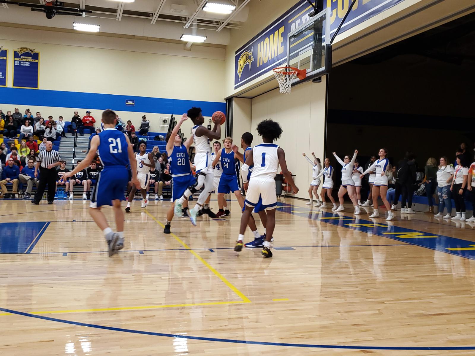 Boys Basketball Defeats CVCA