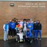 Boys Basketball Team Volunteers at Haven of Rest