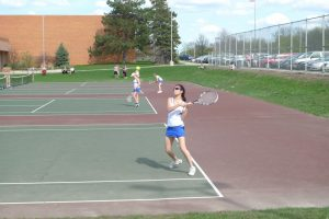 Girls Tennis vs Dow 5/2/13