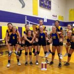 Freshmen VB captures Bay City tournament title