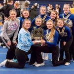 Girls Junior Varsity Competitive Cheer finishes 1st place at Bluejay Invitational