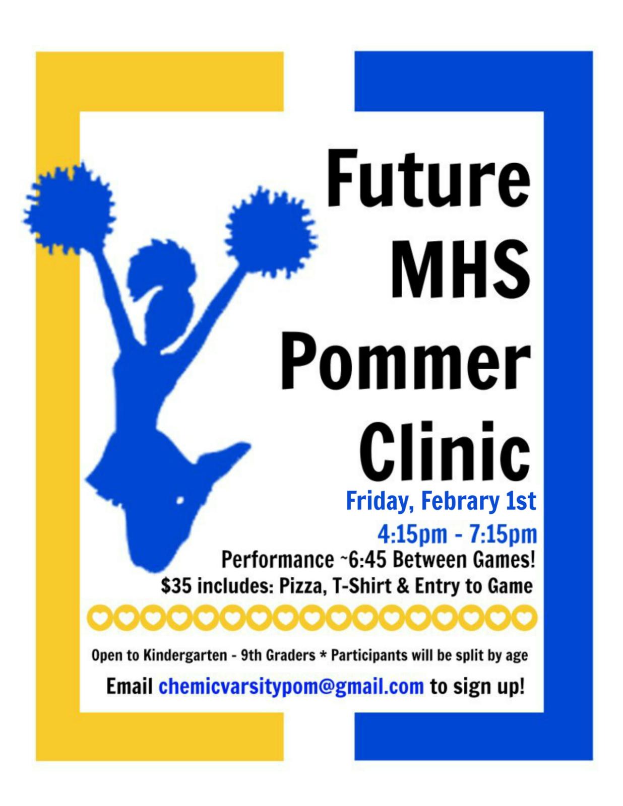 Future Chemic Pommer Clinic = Feb 1st