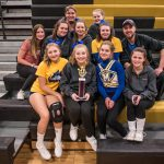 Girls Junior Varsity Competitive Cheer finishes 1st place at Bullock Creek Invite