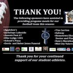 THANK YOU meal sponsors!