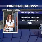 Congrats to Sarah Leighliter!