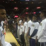 Titan basketball recognized at Cavs game