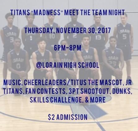 Titan Madness – Thursday, November 30