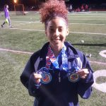 Freshman Julissa Williams is the first Titan to punch her ticket to the Regional Tournament on the first day of the OHSAA District Track and Field Championships