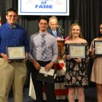 Evelyn Williams and Justin Sturgill recognized at LSHOF Banquet