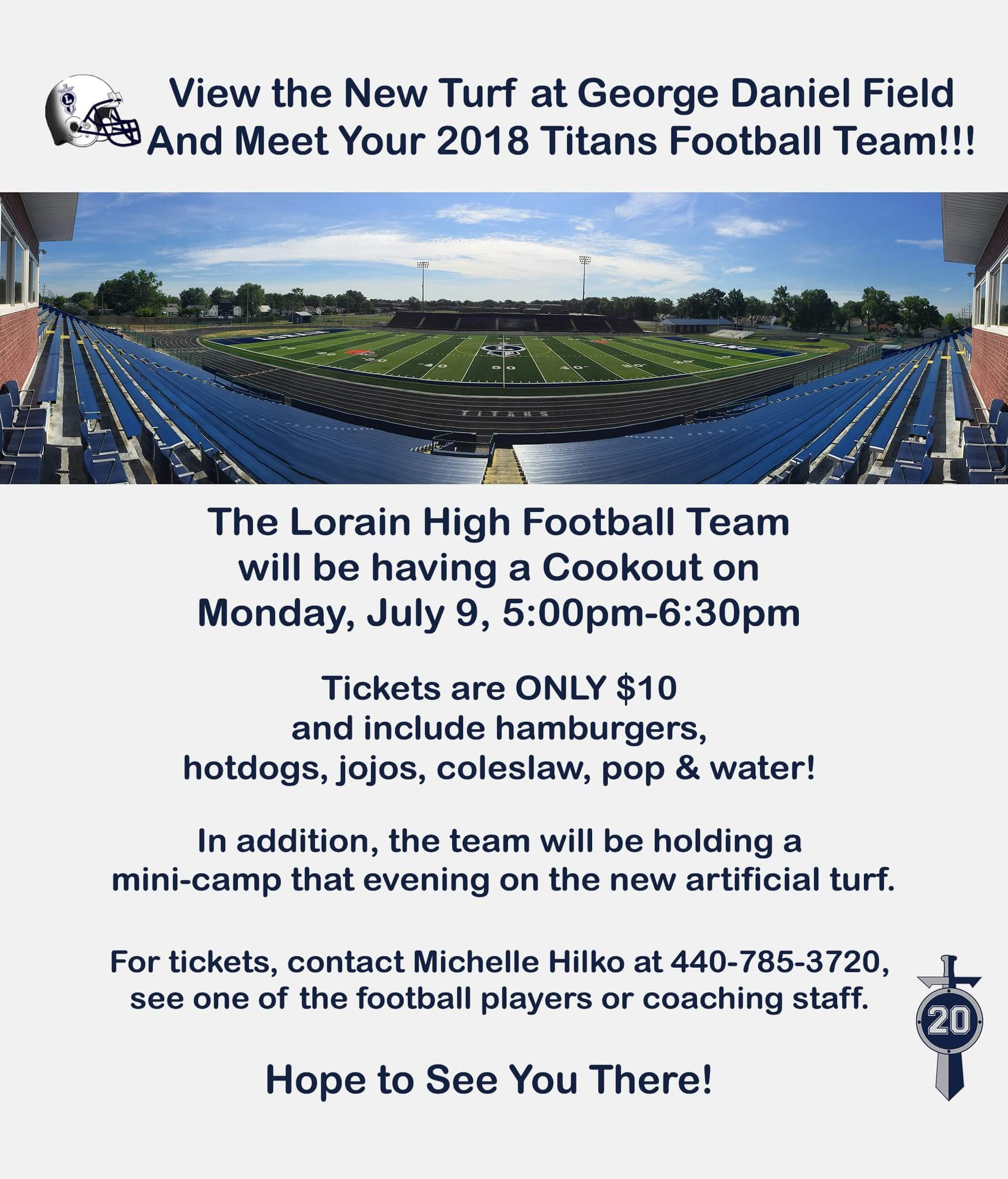LHS Football Cookout July 9