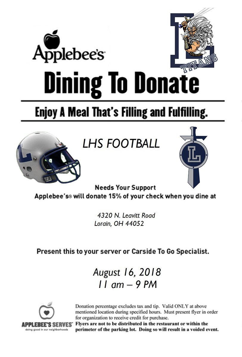 Dine to Donate TODAY Aug 16