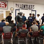 LHS football grads pay a visit