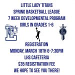 Little Lady Titans Spring Basketball League