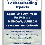 LHS JV Cheerleading Tryouts June 24