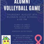 LHS Alumni Volleyball Game Thurs, Aug 8
