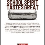 Cheer Chipotle fundraiser THIS MONDAY!