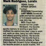Chronicle Telegram Player of the Week – Mark Rodriguez