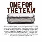 Boys Soccer Chipotle fundraiser Oct 29