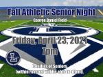Fall Athletics Senior Night April 23