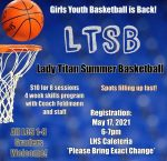 Lady Titans Youth Basketball – REGISTER MONDAY, MAY 17