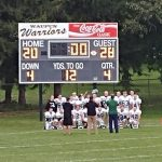 Kettle Moraine Lutheran High School Freshman Football JV2 beat Waupun 28-20