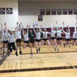 Kettle Moraine Lutheran High School Girls Varsity Volleyball beat Plymouth High School 3-0