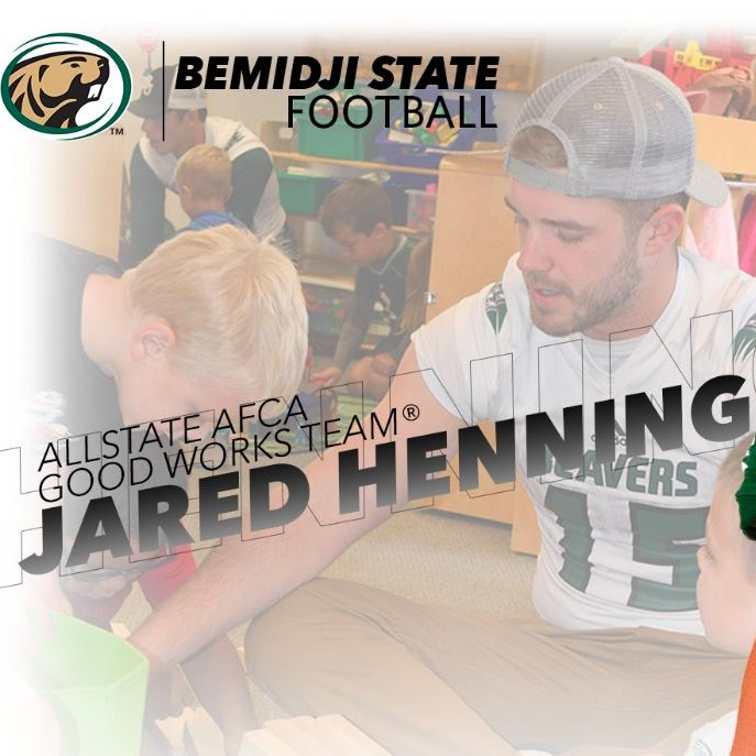 Henning selected to prestigious 2018 Allstate AFCA Good Works Team®