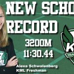 Schwalenberg Scorches School Record!