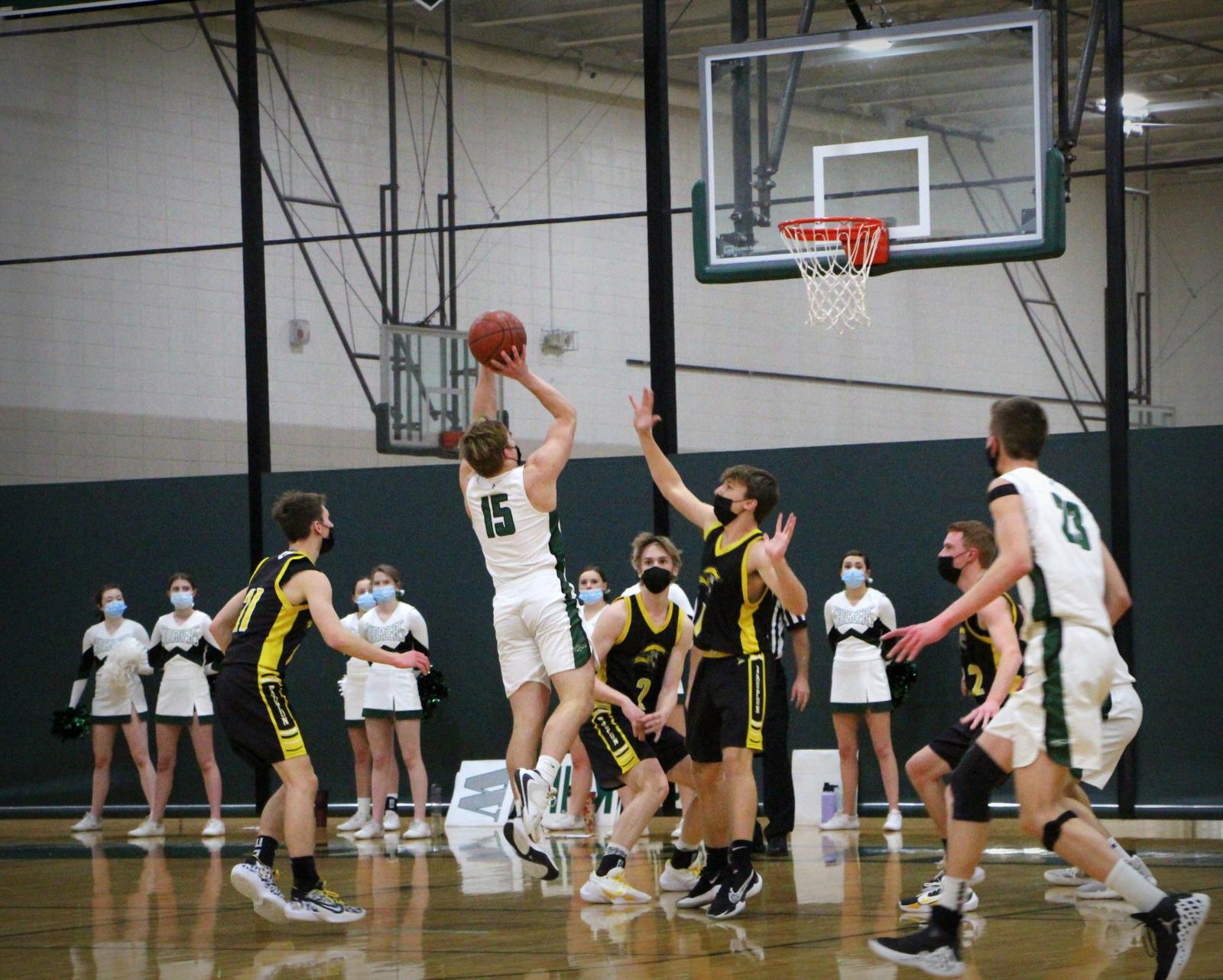 Varsity Boys Basketball (2-9-21) – courtesy of Leffel