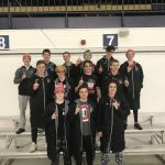 Rider Mens Swimming/Diving Take Home 1st place at Suburban League Champs!