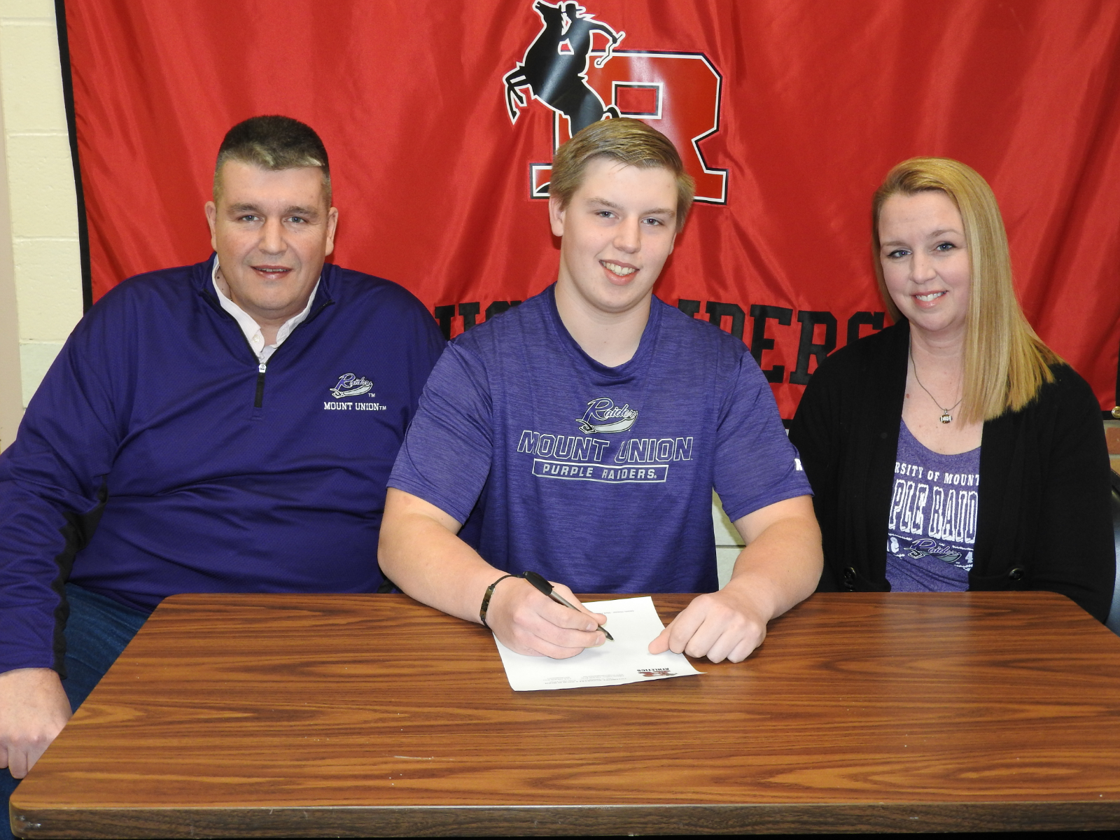 Senior Rough Rider Bill Wolford Signs With Mount Union